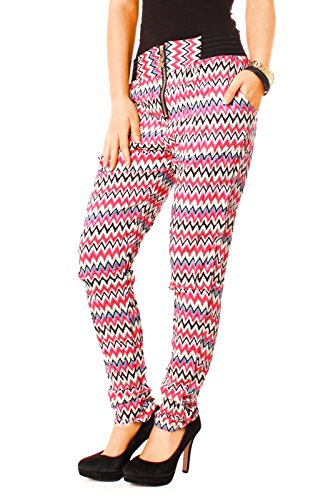 Easy Young Fashion - Pantalon - Femme - zickzack pink