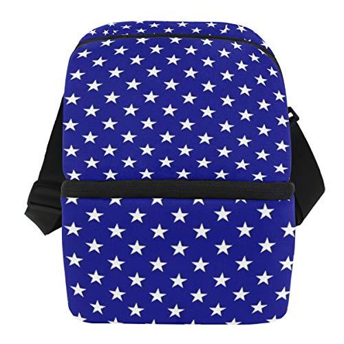Coosun - Bolsa térmica para el almuerzo, diseño de lunares, impermeable, de neopreno, con cremallera, ideal para el trabajo al aire libre, viajes, picnic