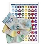 Etiketten zum Markieren Ihrer Socken-Paare,Modell 3Junior