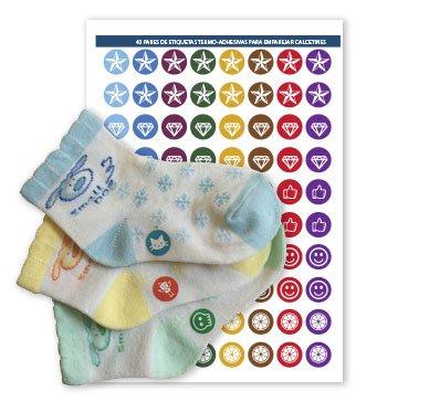 Etiketten zum Markieren Ihrer Socken-Paare, Modell 3 Junior (JUNIOR)