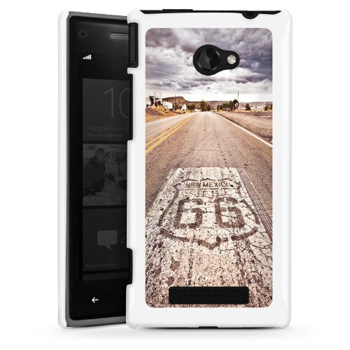ws Phone 8X Hülle Schutz Hard Case Cover USA Biker Strasse ()