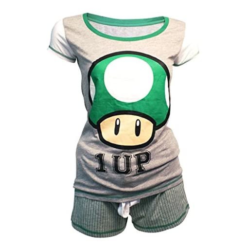 Womens-ufficiale-Super-Mario-Bros-1-Shortama-pigiama-set-Nintendo