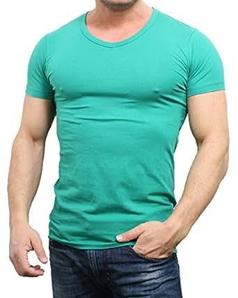 Jack & Jones T-Shirt Basic V-Neck Slim Fit, Größe:S;Farbe:Grün