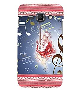 Fuson 3D Printed Music Girl Designer back case cover for Samsung Galaxy Ace 3 - D4146