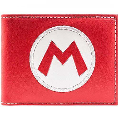 Super Mario Super Mario Hat Logo Rot Portemonnaie Geldbörse (Yoshi Kostüm Hat)