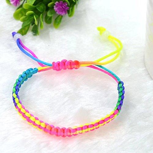 Ricisung 9 X Hippie Style Colorful Braided Friendship Bracelets