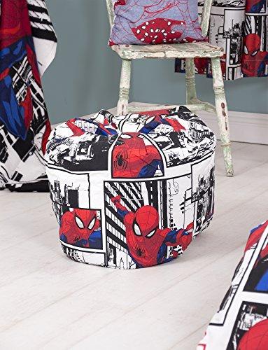 Disney Spiderman pour Enfants Pouf | Idéal pour n'importe Quelle Chambre à Coucher ou Salle de Jeux, Rouge, 50x 65cm