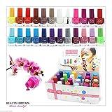 Set di 24 Smalti Per Unghie 24 Colori Diversi Moderna Bottiglia 7ml (Set A)