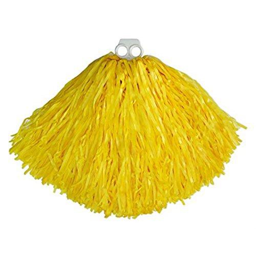 Tanzwedel gelb 2 er Pack, Kostüm Cheerleader Pompons Zubehör Tanzkostüm Fasching Karneval