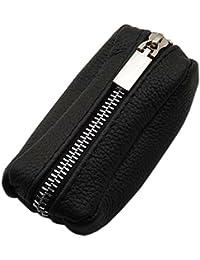 Cuero Estuches de llave 2 compartimentos Made en UE en negro en varios diseños