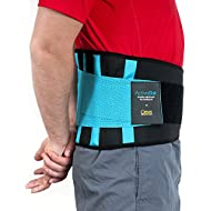 Back Support Belt, Lower Back Brace - The Only Certified Medical-Grade Lumbar Belt for Pain Relief and Injury Prevention | Double Adjustment Perfect Fit | ActiveBak by Clever Yellow (™) | 4 Sizes