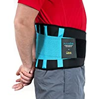 Faja Lumbar para la Espalda - El Unico Cinturón Lumbar Certificado por Médicos en el Reino Unido para Aliviar el Dolor y Prevenir Daños | Doble Ajuste Para una Adaptación Perfecta | Para Hombre y Mujer | ActiveBak de Clever Yellow | 4 Tallas