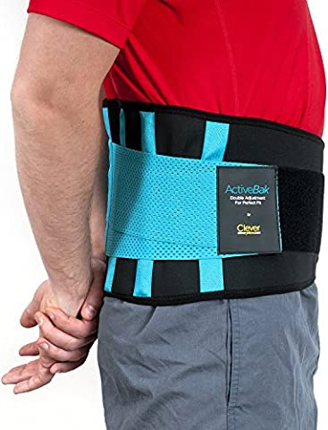 Support for Back, Lumbar Brace - the Only Certified Medical-Grade Lower Back Belt for Pain Relief and Injury Prevention | Double Adjustment for Perfect Fit | For Men and Women | ActiveBak by Clever Yellow | 4