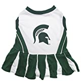 Pets First NCAA Michigan State Spartans Dog Cheerleader Outfit, Small