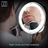 Make-up 10-fache Vergrößerung 7 Schwanenhals-runder Kosmetikspiegel 360 Grad mit LED-Licht -