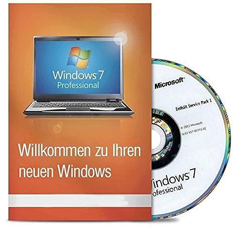 Windows 7 Professional 32 Bit MAR Version Hologramm DVD und COA