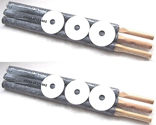 Partylichter Fackeln Grau 6er-Set 55cm-lang Wachsfackeln mit Holzgriff und Tropfschutz