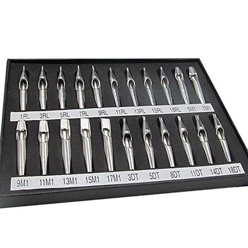 Maschinen-nadel-organizer (22 Stück Einweg Sterilisiert Edelstahl Tattoo Gun Maschine Needle Tube Tip Düse Versorgung)