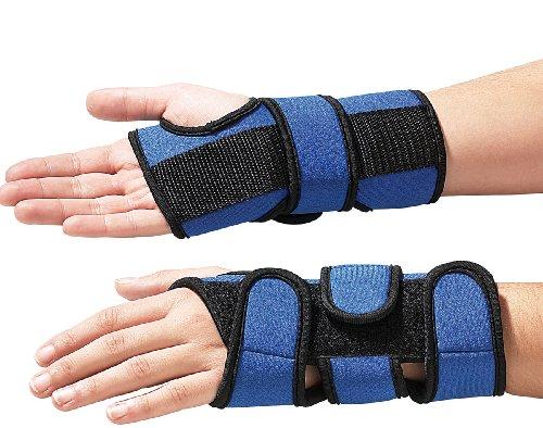 Newgen Medicals Unisex Jugend PE-2957 Handbandagen: Handgelenkstützen Pro 2er-Set (Handstütze), blau, 1