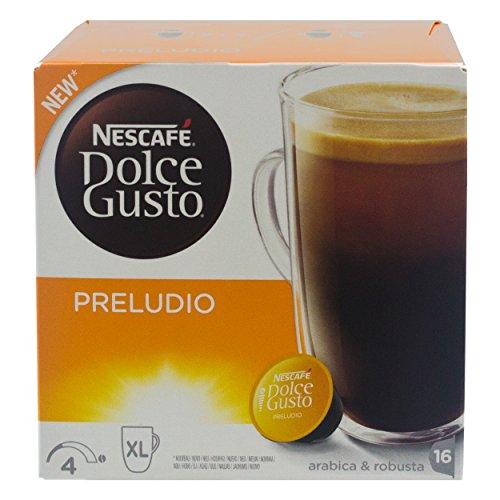 Nescafé Dolce Gusto Preludio, Kaffee, Kaffeekapsel, Grosse Kaffeebecher Portion, 16 Kapseln