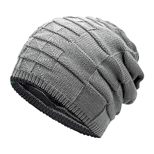 Leisial Unisexo-Adult Sombrero de Invierno Gorro de Punto Caliente Sombrero  al Aire Libre Doble ca4420af957b