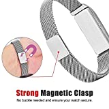 VIGOSS Fitbit Flex 2 Strap, Stainless Steel Loop Wrist Metal Mesh Replacement Strap Accessory Bangle for Fitbit Flex 2 Fitness Activity Tracker (Milanese Silver)