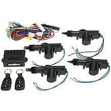 KKmoon Kit de Cerradura Bloqueo Central de Control Remoto de con Botón de Libración Sistema de Entrada de Puerta de Coche Universal sin Llave