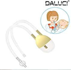 DALUCI New Born Baby Safety Nose Cleaner Vacuum Suction Nasal Aspirator Bodyguard Flu Protection Accessories (Multicolour)