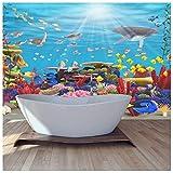 azutura Blaues Korallenriff Fototapete Unter Dem Meer Tapete Badezimmer Haus Dekor Erhältlich in 8 Größen Riesig Digital