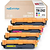 MyCartridge 4 Kompatibel Brother TN-242 Tonerpatronen für Brother HL-3152CDW,3142CDW,3172CDW DCP-9022CDW MFC-9332CDW 9342CDW (Schwarz/Cyan/Magenta/Gelb)