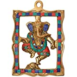 Stunning Wall Hanging Of Ganesha Decorative Showpiece Embellish With Stone Work Wall Decor For Your Living Room And Home Decor