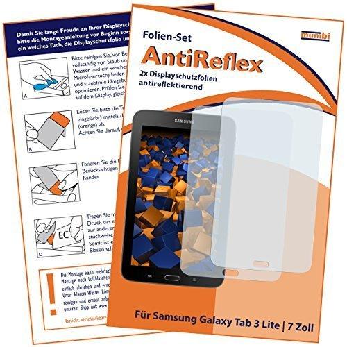 mumbi Schutzfolie kompatibel mit Samsung Galaxy Tab 3 Lite Wi-Fi Folie matt, Bildschirmschutzfolie (2x)