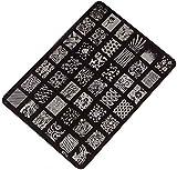 Amlaiworld Nail Stamping Printing Plate Manicure Nail Art Decor Image Stamps Plate