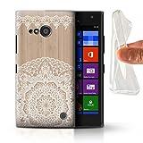 Stuff4 Coque Gel TPU de Coque pour Nokia Lumia 735 / Mandala Bambou Design/Bois...