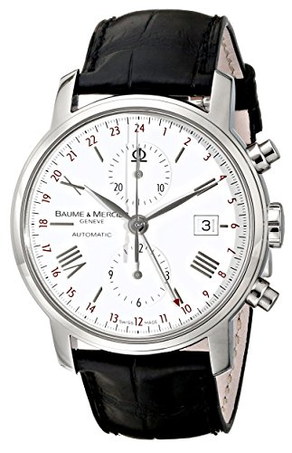 Baume & Mercier 8851 - Reloj de pulsera hombre, piel, color negro