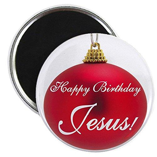 CafePress-Happy Birthday Jesus-5,7cm rund Magnet, Kühlschrank Magnet, Button Magnet Stil (Happy Jesus Birthday Christus)