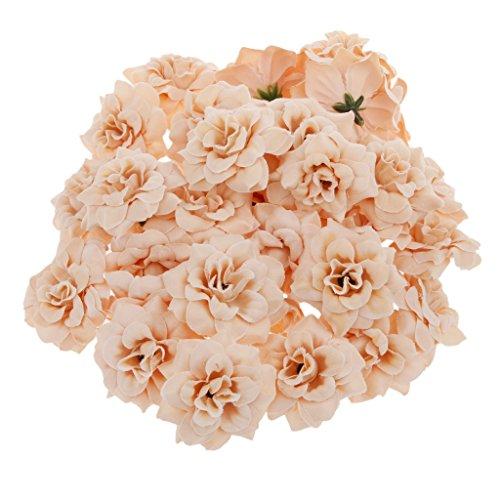 ide Rosen Blütenköpfe Blumen-Köpfe Hochzeit Parteidekor Bulk - Aprikose ()