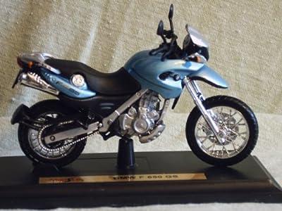 Motorrad Modell BMW F 650 GS hell blau - Maisto 1:18 von Maisto