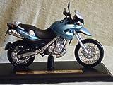 Motorrad Modell BMW F 650 GS hell blau - Maisto 1:18