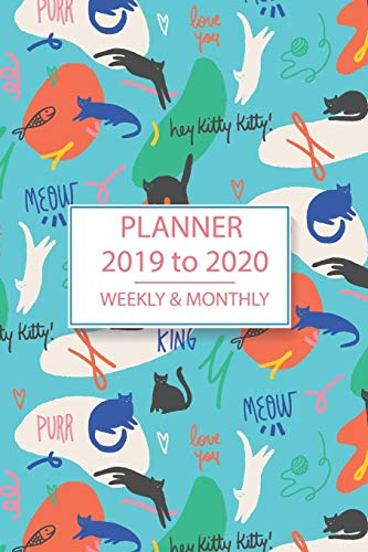 Academic Planner Blue Kitty Kitty Design: Student & Teacher Diary Planner With Schedules, Trackers, To Do's & Reminders Plus Weekly, Monthly & Yearly At A Glance