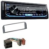 caraudio24 JVC KD-X151 1DIN USB Aux MP3 Autoradio für Alfa Romeo 147 GT Anthrazit