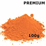 @tec Pigmentpulver, Eisenoxid, Oxidfarbe, Farbpulver Pigmentfarbe - Farbpigmente/Trockenfarbe für Beton + Wand - 100g (29,90€/Kg) Farbe: orange