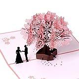 Geburtstagskarte, Jahrestagskarte, romantische 3D Pop-Up-Grußkarten, Geschenk für Ehefrau, Freundin, Ehemann, Freund