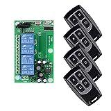 BWSS 220V 4CH Drahtlose Fernbedienung/Radio Fernschalter Lernen Code Empfänger + 4PCS Sender, AC 85V 110V 220V 250V