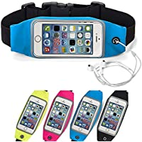 "King of Flash Universal Mobile Smart Phone Upto 5.5"" Running Jogging Cycling Phone Belt Bag Blue Large"