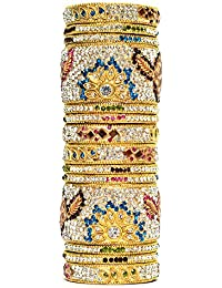 Traditional Multi Color Wedding Bangles/Engagement Bangles, Stone Bangles For Women And Girls, Bangle Set With...