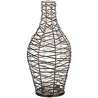 albena shop 71-6361 Frasco de forma de botella de linterna de metal / alambre (L ø 19 x H 40cm)