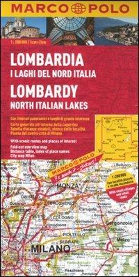 Lombardia, i laghi del Nord Italia 1:200.000. Ediz. multilingue (Carte stradali Marco Polo)