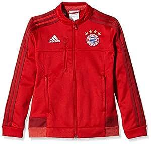 adidas Kinder Jacke FC Bayern München Anthem, fcbtru/crared, 128, AA1646