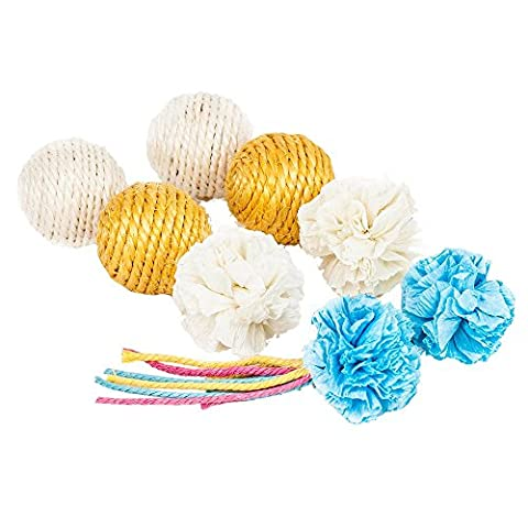 Blueberry Pet Toys For Cat 8-piece Light Colored Balls Cat Toy Pack
